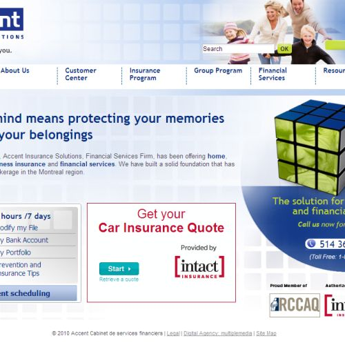 site web Accent Cabinet de services financiers