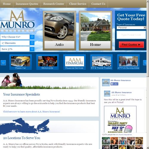 site web A.a. Munro Insurance Brokers Inc.