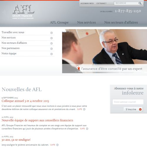 site web Afl Groupe Financier