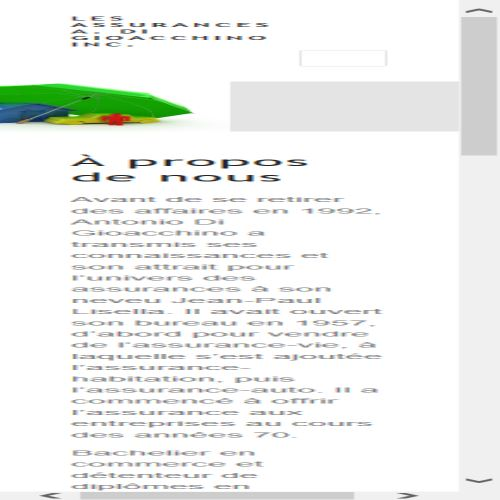 site web Assurance A.di Gioacchino Inc.