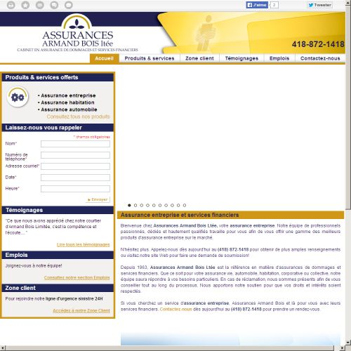 site web Assurance et Services Financiers d'Armand Bois