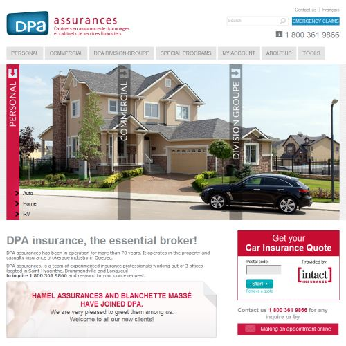 site web Assurances Blanchette Masse Inc