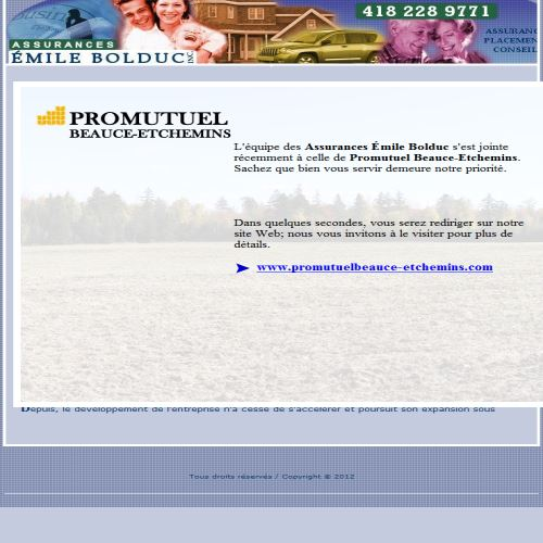 site web Assurances Émile Bolduc Inc.