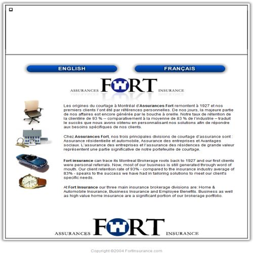 site web Assurances Fort Insurance