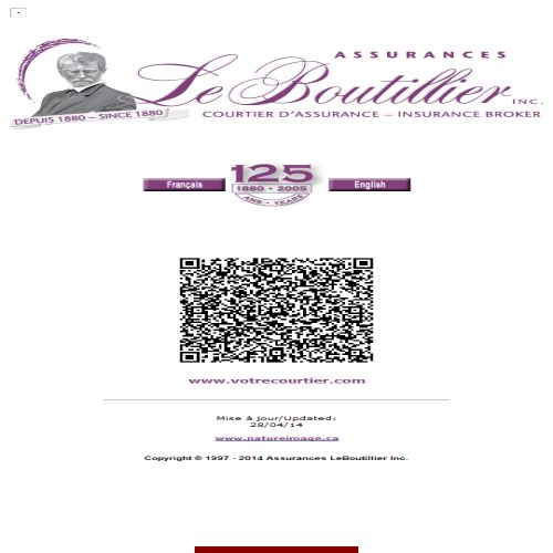 site web Assurances Leboutillier Inc