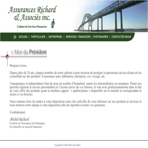site web Assurances Richard & Associés