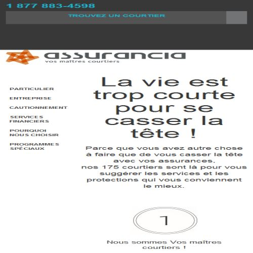site web Assurancia Groupe Laurence