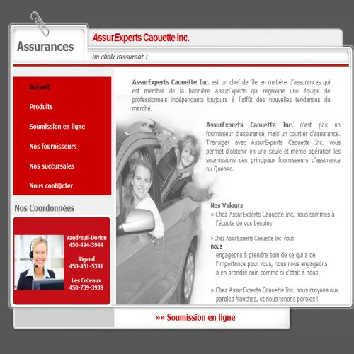 site web Assurexperts Caouette