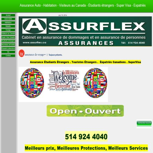 site web Assurflex Inc.