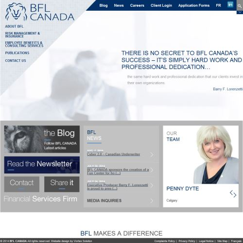 site web Bfl Canada Risques & Assurance