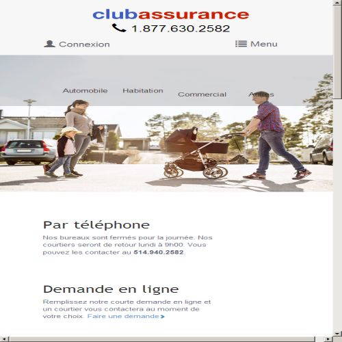 site web Club Assurance Inc.