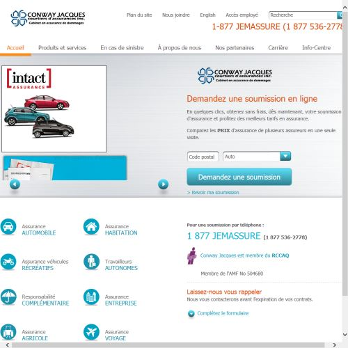 site web Conway Jacques Courtiers D'assurances