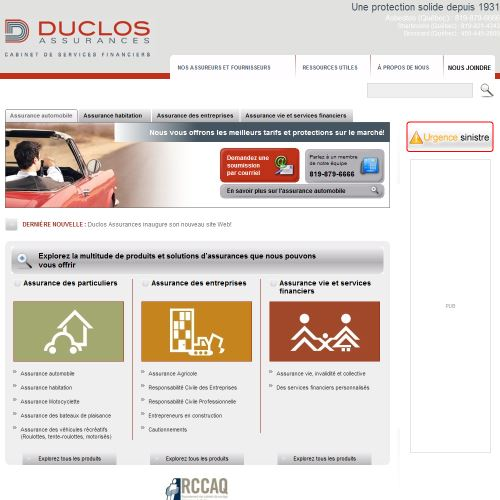 site web Duclos Assurances