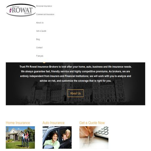site web F. H. Rowat Insurance Agency Ltd.