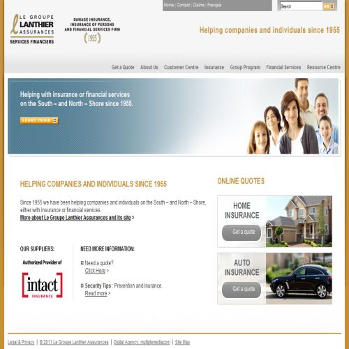 site web Financiere Lanthier Inc.