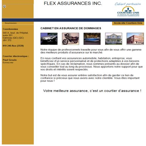 site web Flex Assurances Inc.