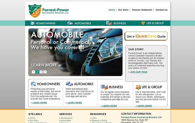 site web Forrest-Power Insurance Brokers Ltd.