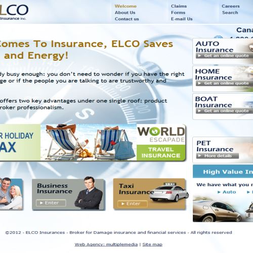 site web Groupe Assurance Elco Inc.