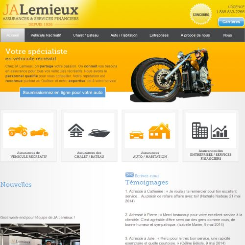 site web J.A. Lemieux assurances & services financier