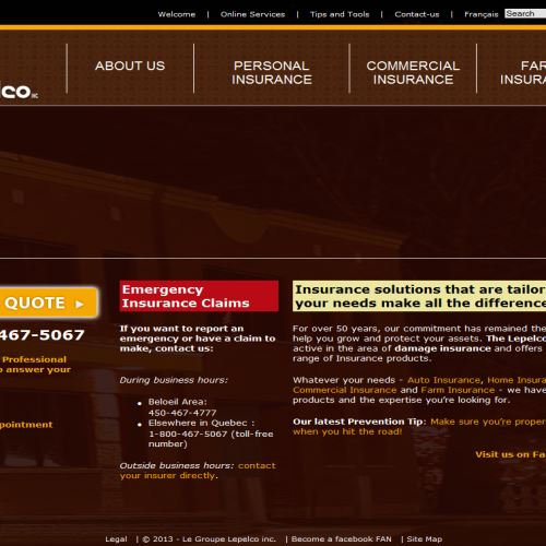 site web Le Groupe Lepelco Inc.
