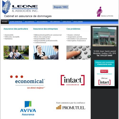 site web Leone Et Associes Inc.