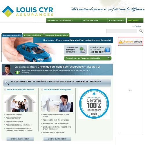 site web Louis Cyr Assurances