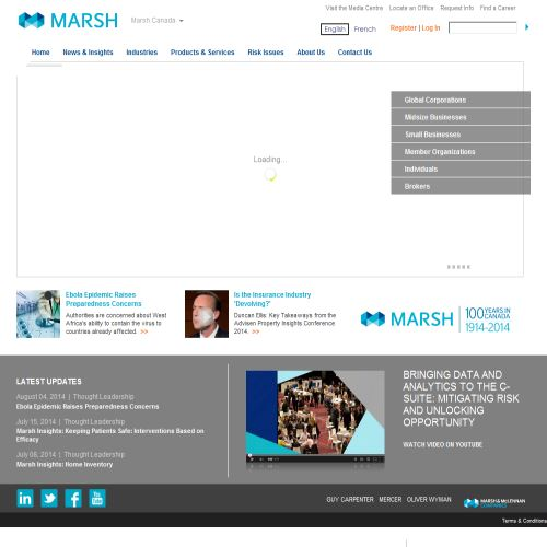 site web Marsh & Mclennan Ltd