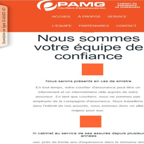 site web Pamg Courtiers D' Assurances