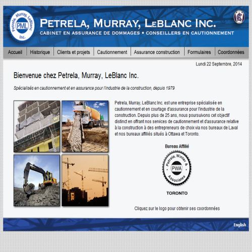 site web Petrela Murray Leblanc
