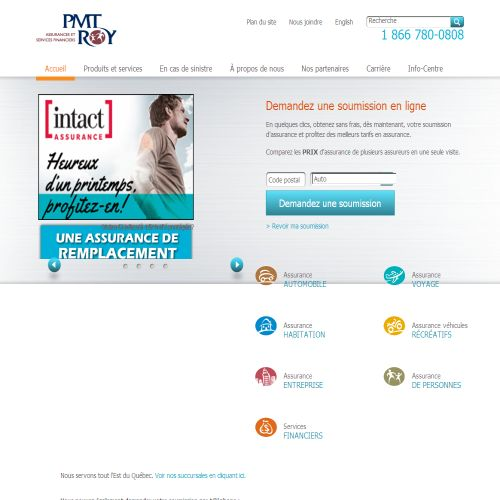 site web Pmt Roy Assurances Et Services Financiers Inc.