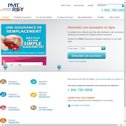 site web Pmt Roy Assurances & Services Financier