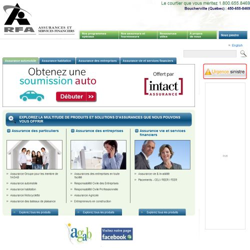 site web Richard Francoeur & Associés Assurances Inc