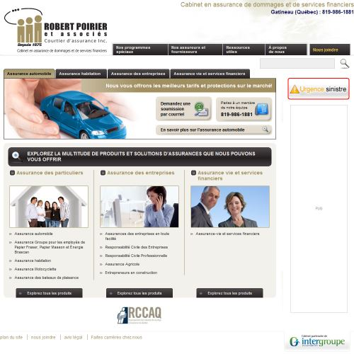 site web Robert Poirier & Associes