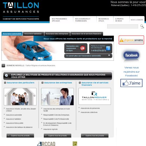site web Taillon Assurances