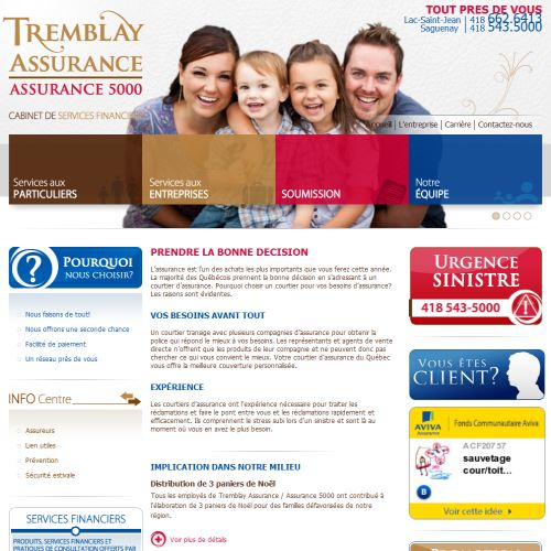 site web Tremblay Assurance Ltee