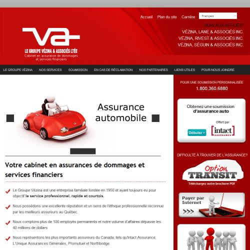 site web Vezina Rivest & Associes Inc